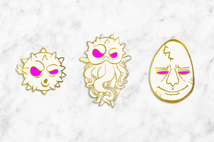 "Nightcaps ""Milk"" enamel pin trio (preorder)"