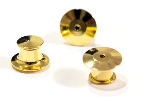 Gold Deluxe Secure Locking Pin Clutches (5 pack)