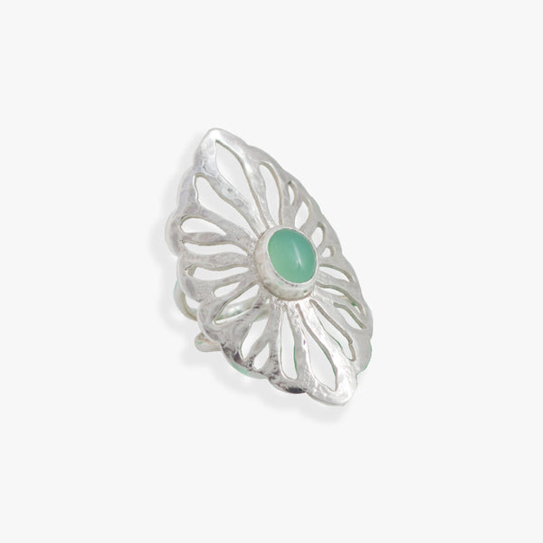 Sea Gem ring with Chrysoprase