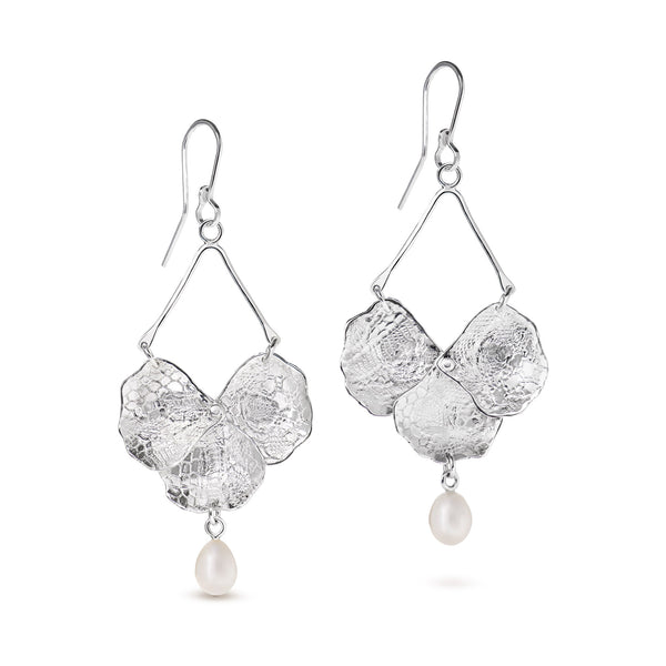 Blossom Lace Chandelier Earrings