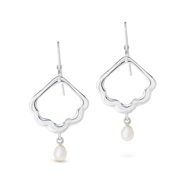 Blossom drop earrings small with pearl