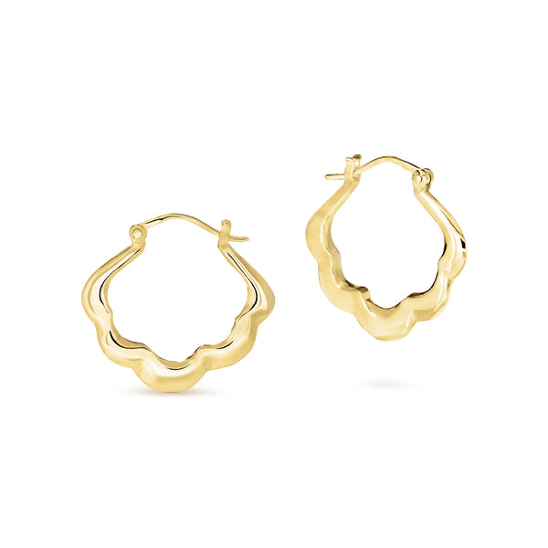Blossom Hoops Small Gold