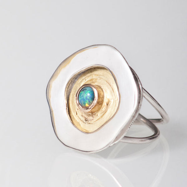 Magic Rockpool Opal Ring #1