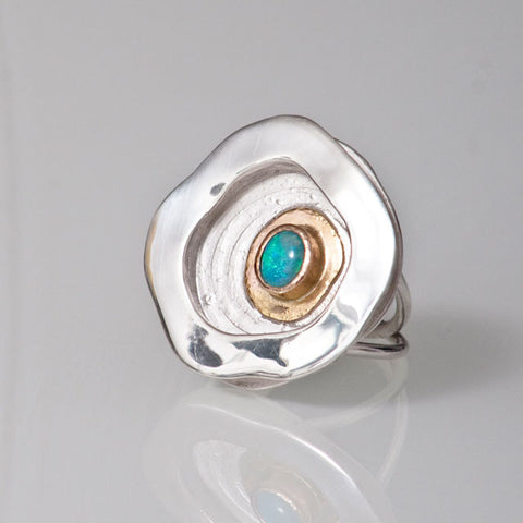 Magic Rockpool Opal Ring #2