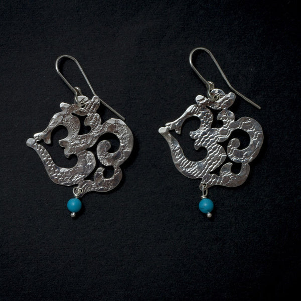 Om earrings small