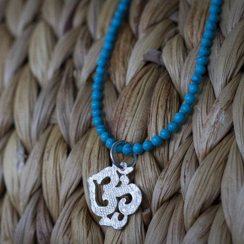 OM Necklace with Turquoise