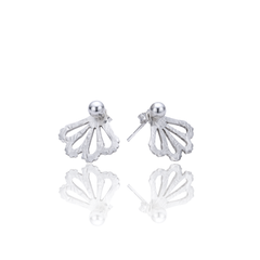 Peek-a-boo Sterling studs 4mm