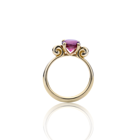 Recoleta Ring 18k Yellow Gold and Pink Tourmaline