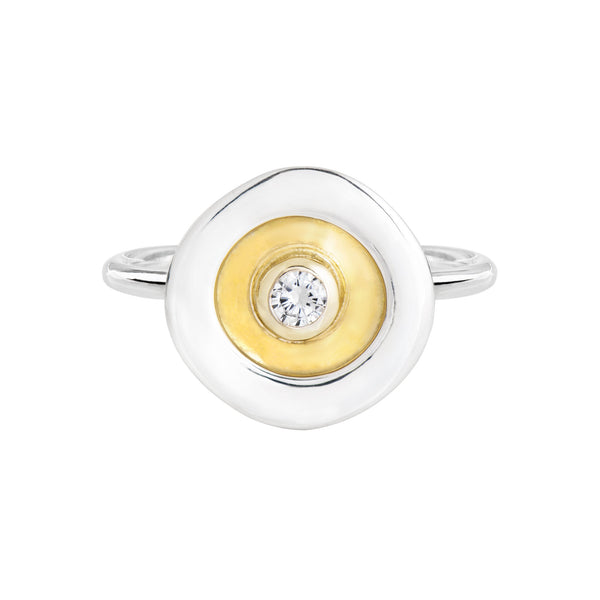 Mini Magic Rockpool Ring with diamond