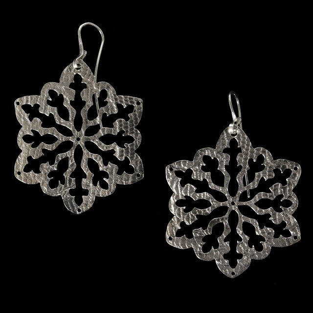 Snow Flake Earrings Small