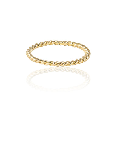 Thread XO Gold Ring