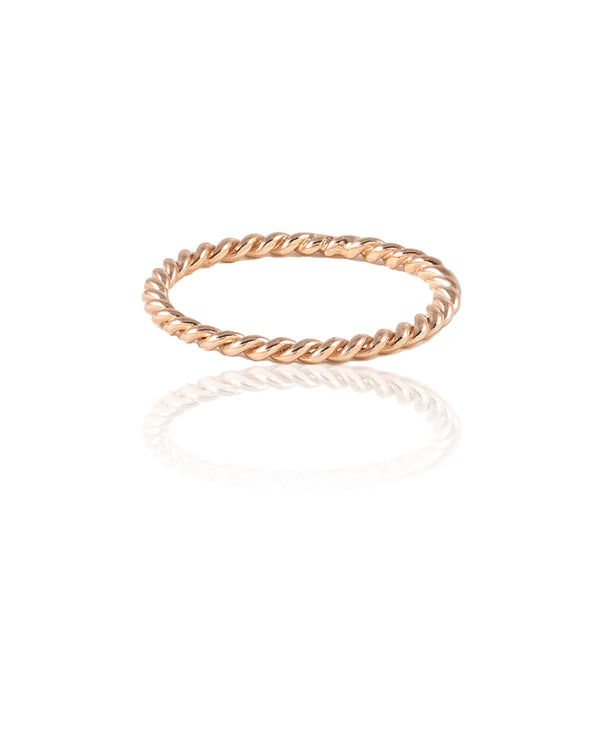 Thread XO Rose Gold Ring