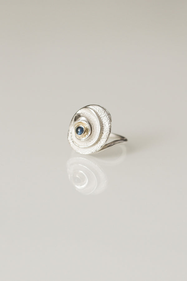 Spiral Ring with Sapphire