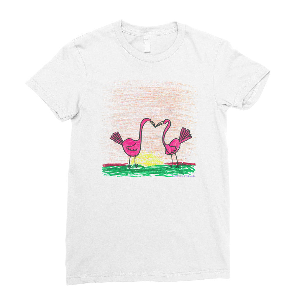 Flamingo Love! - Adult T-shirt - Rightside Shirts