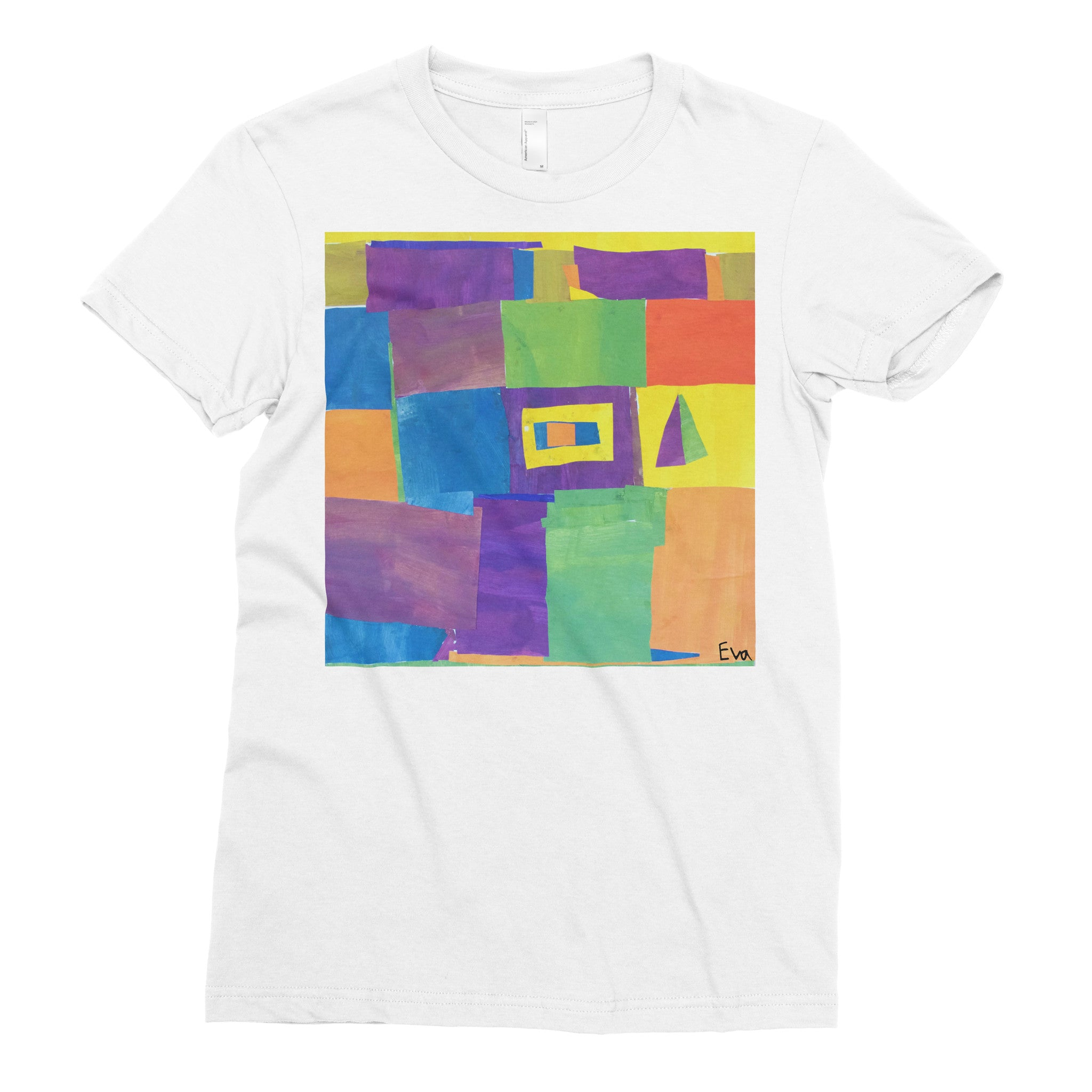 Eva, 4th grade - Adult T-shirt - Rightside Shirts - 1