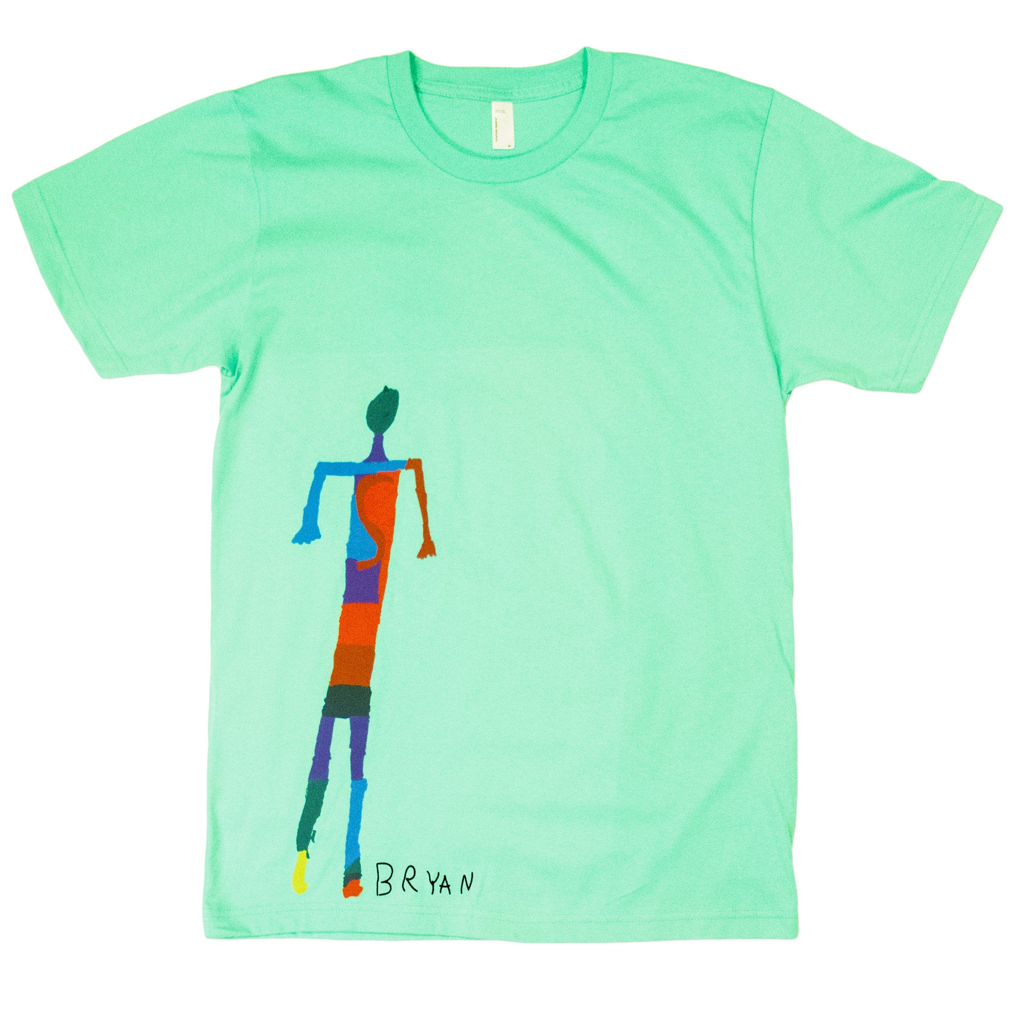 Bryan, 3rd grade - Adult T-shirt - Rightside Shirts - 1