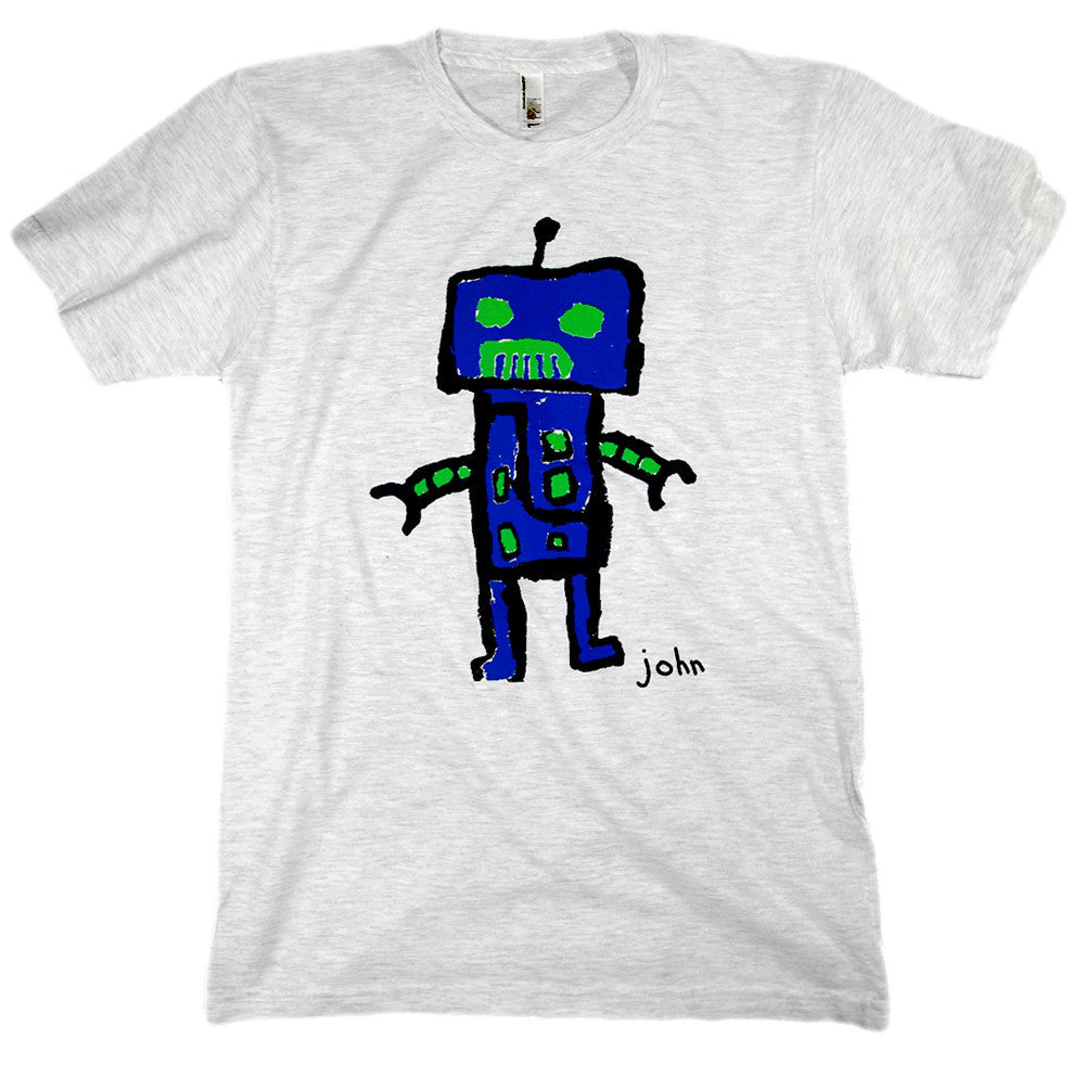 John, 4th grade - Adult T-shirt - Rightside Shirts - 1