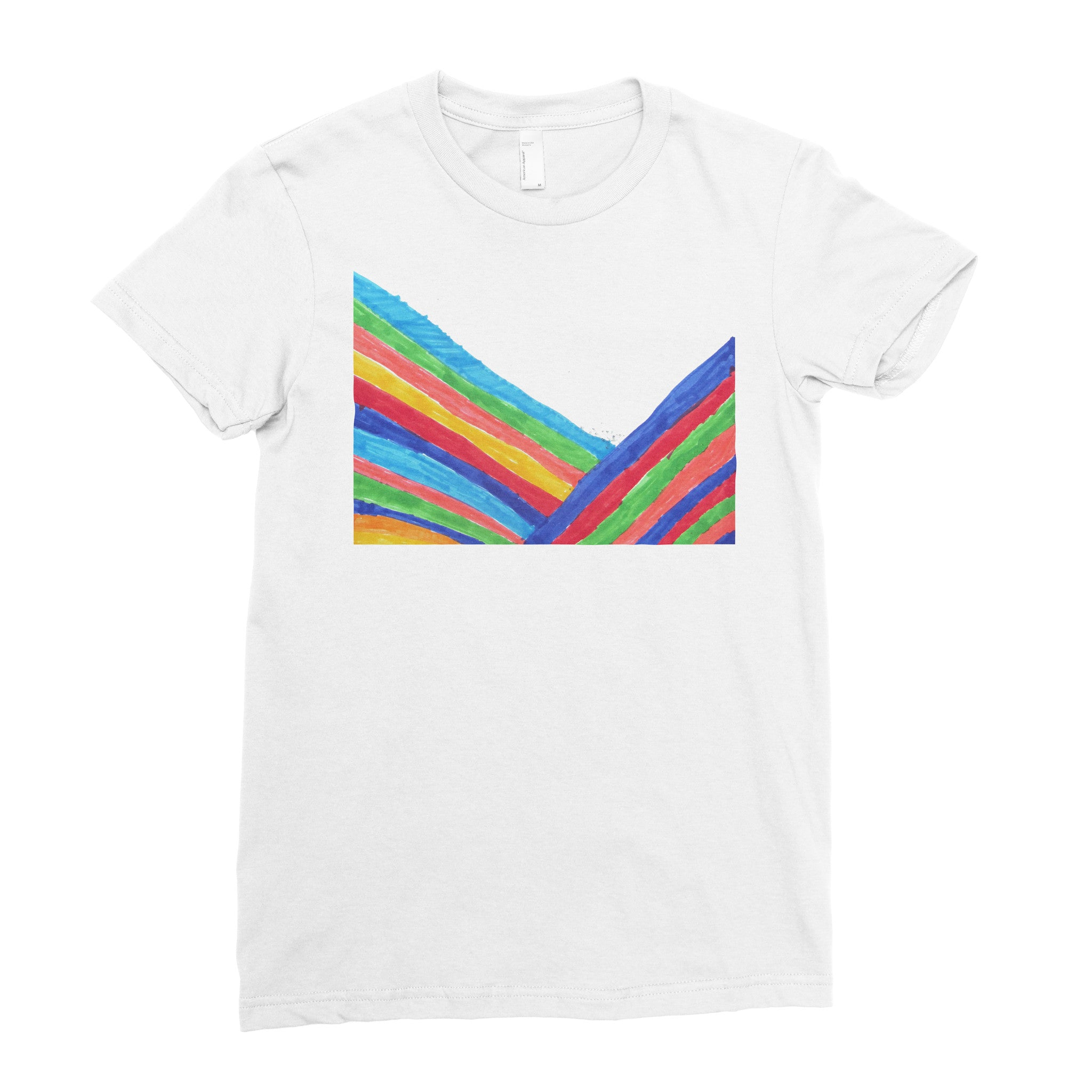 Rainbow - Adult T-shirt - Rightside Shirts