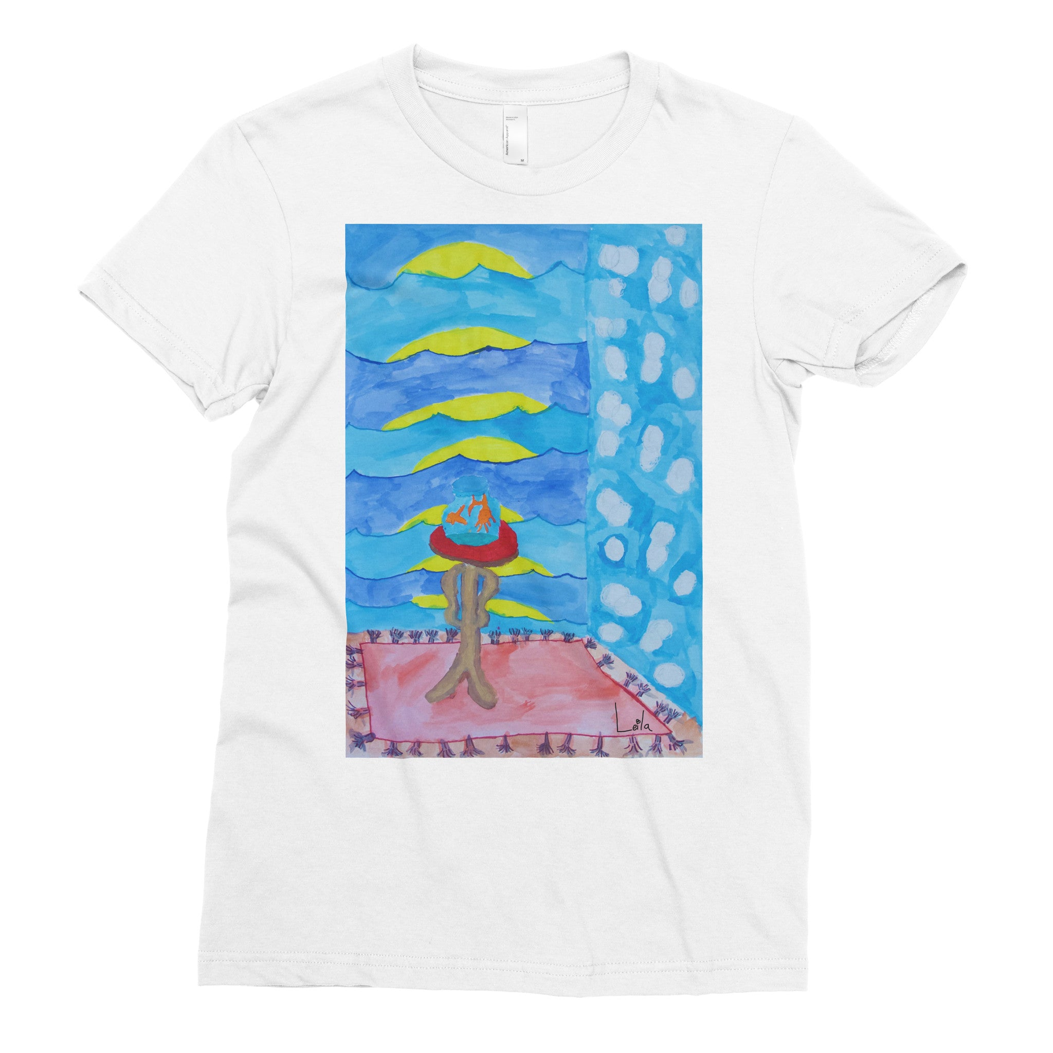 Leila, 2nd grade - Adult T-shirt - Rightside Shirts
