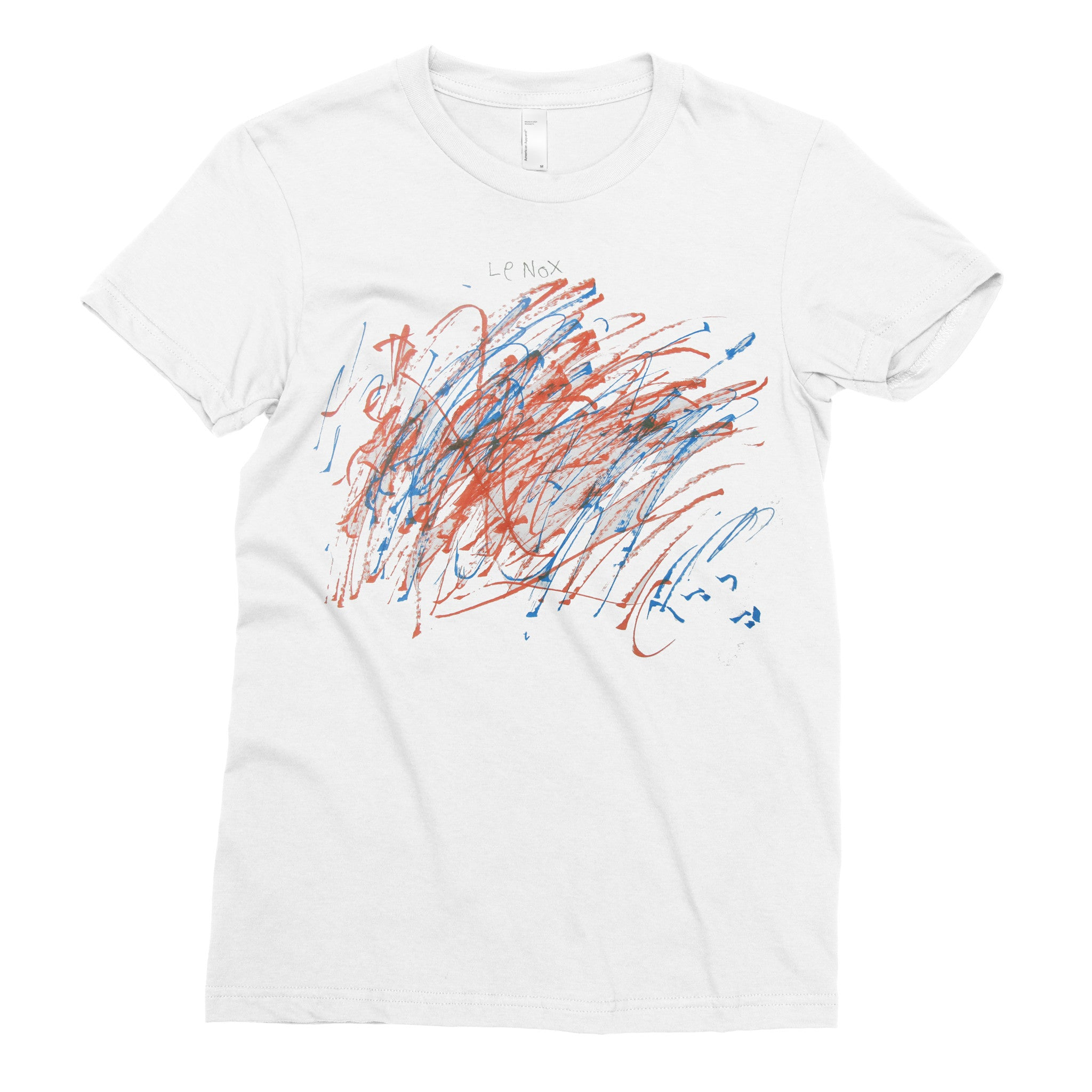 Red & Blue Madness - Adult T-shirt - Rightside Shirts