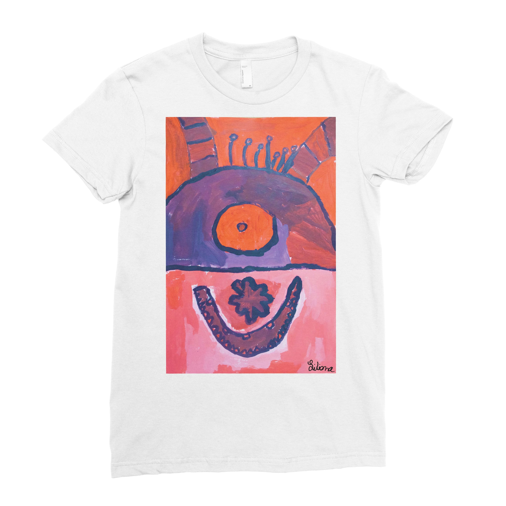 Liliana, 1st grade - Adult T-shirt - Rightside Shirts - 1