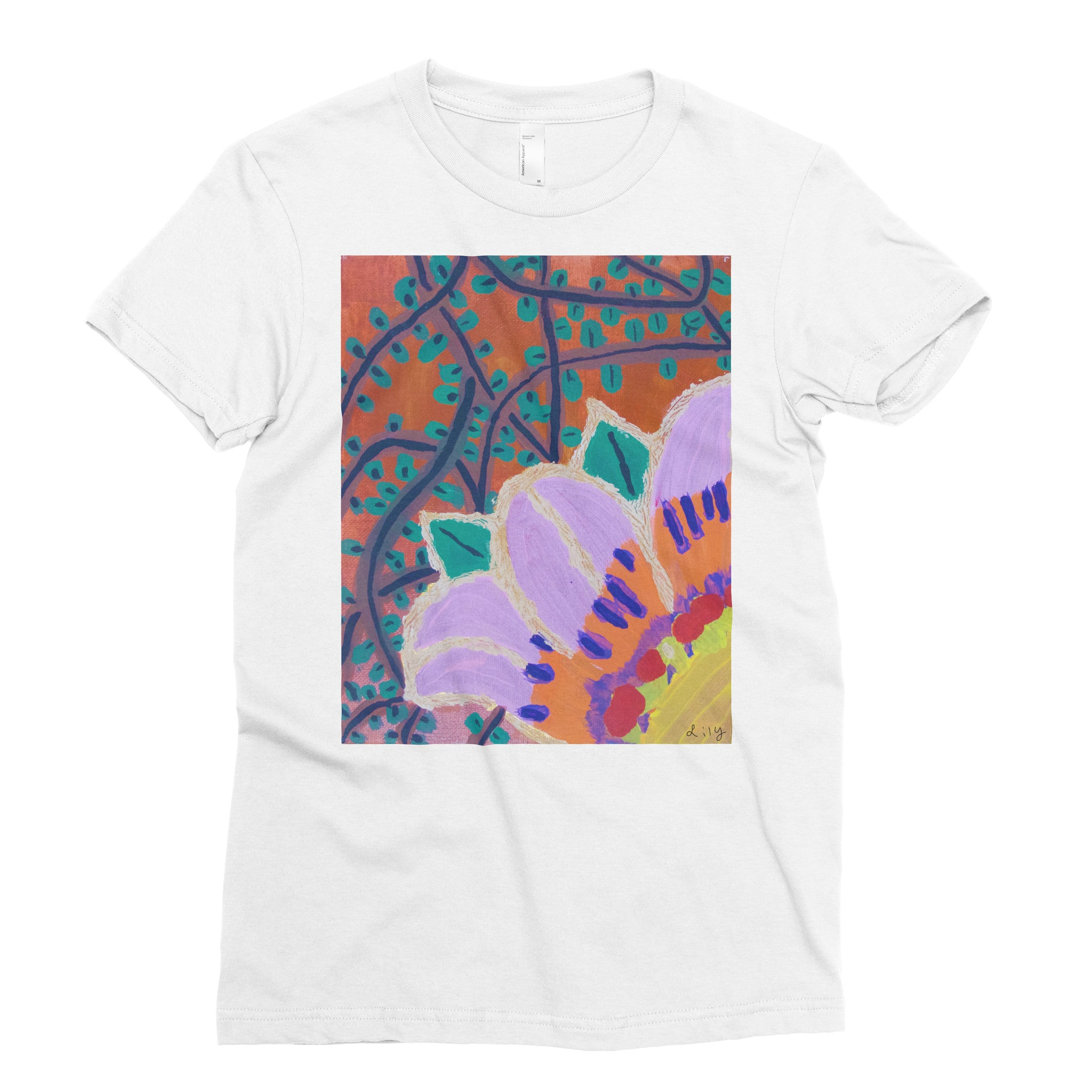 Lily, 3rd grade - Adult T-shirt - Rightside Shirts - 1