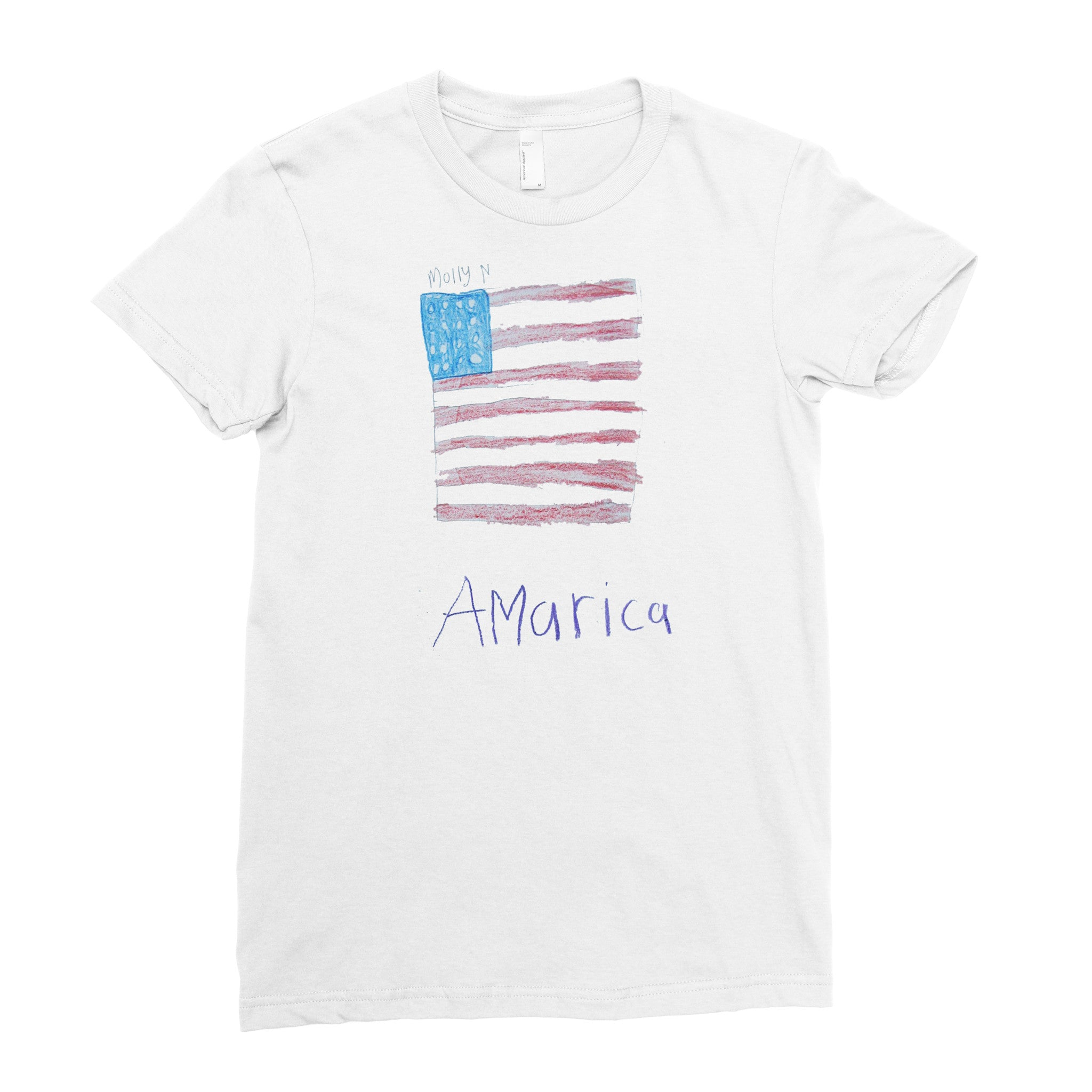 American Flag - Adult T-shirt - Rightside Shirts