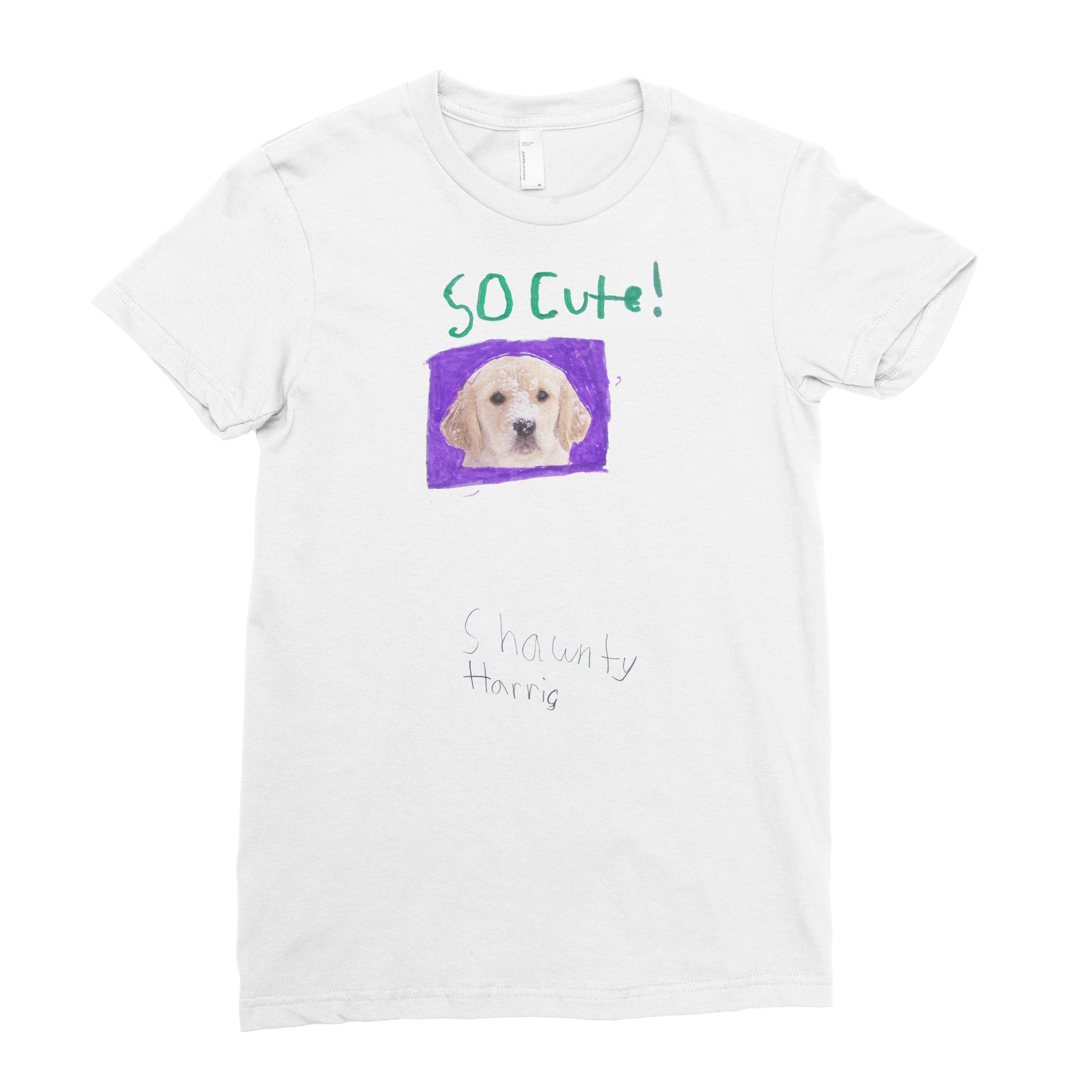 So Cute Dog - Adult T-shirt - Rightside Shirts