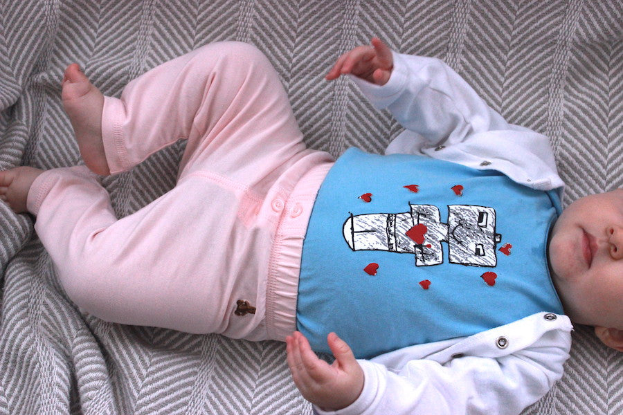 Robots with Heart Onesie - Baby Onesie - Rightside Shirts - 5