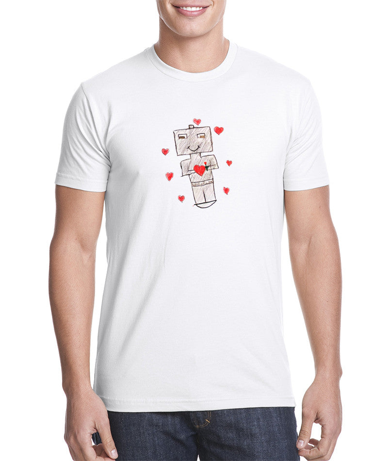 Robots with Heart - Adult T-shirt - Rightside Shirts