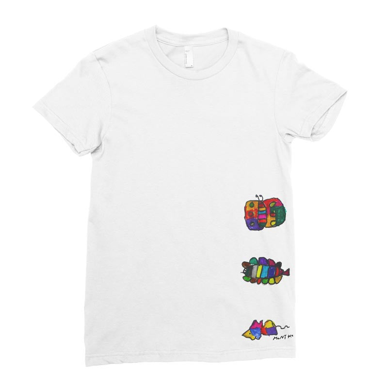 Colorful Critters - Adult T-shirt - Rightside Shirts