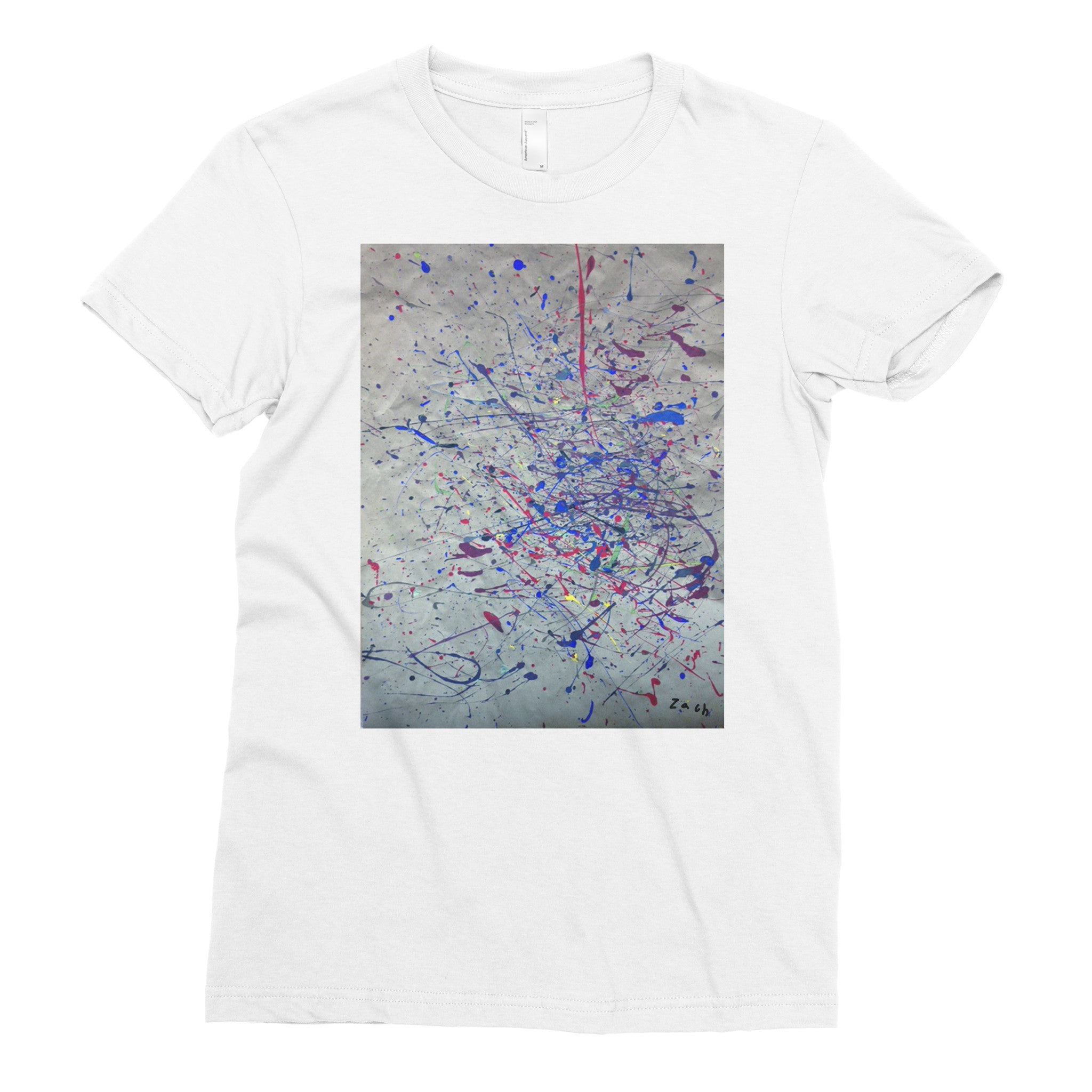 Zachson Pollock by Zach, 2nd grade - Adult T-shirt - Rightside Shirts - 1