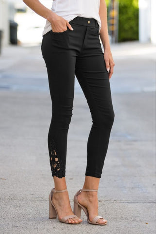 Leggings de crochet negros