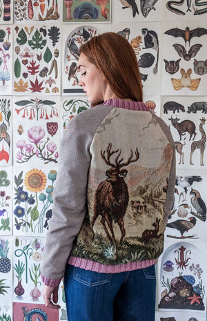 Bomber with tapestry