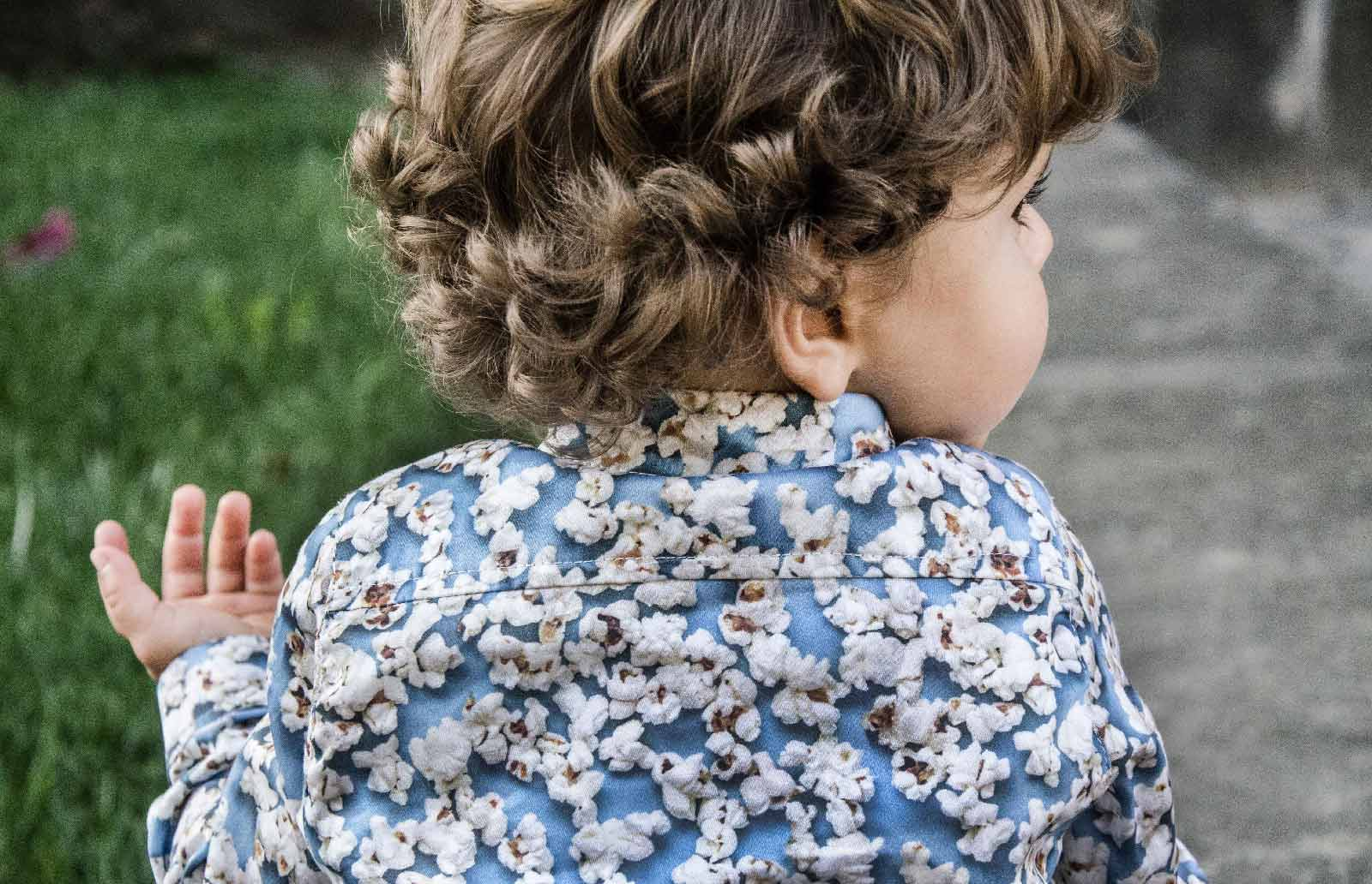 popcorn shirt kids blue