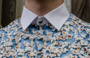 Popcorn shirt light blue detail