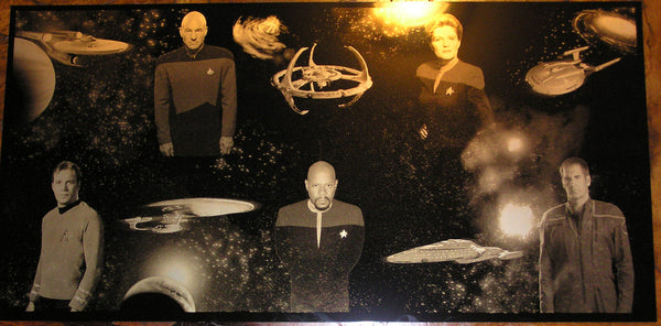 "Star Trek ""The Five Captains"" Limited Edition Geekograph Metal Art"