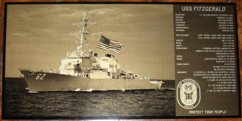 USS Fitzgerald Geekograph Limited Edition Metal Art