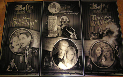 Buffy the Vampire Slayer Once More With Feeling Musical Geekograph Metal Art Triptych