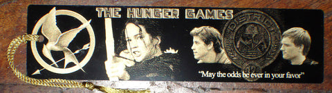 The Hunger Games Bookograph Metal Bookmark