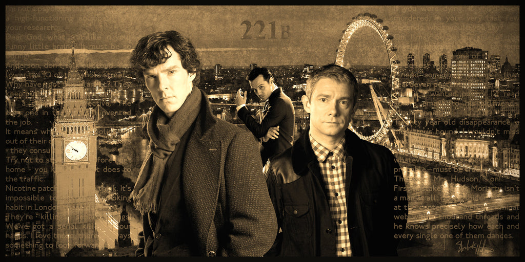 Sherlock Limited Edition Geekograph Metal Art