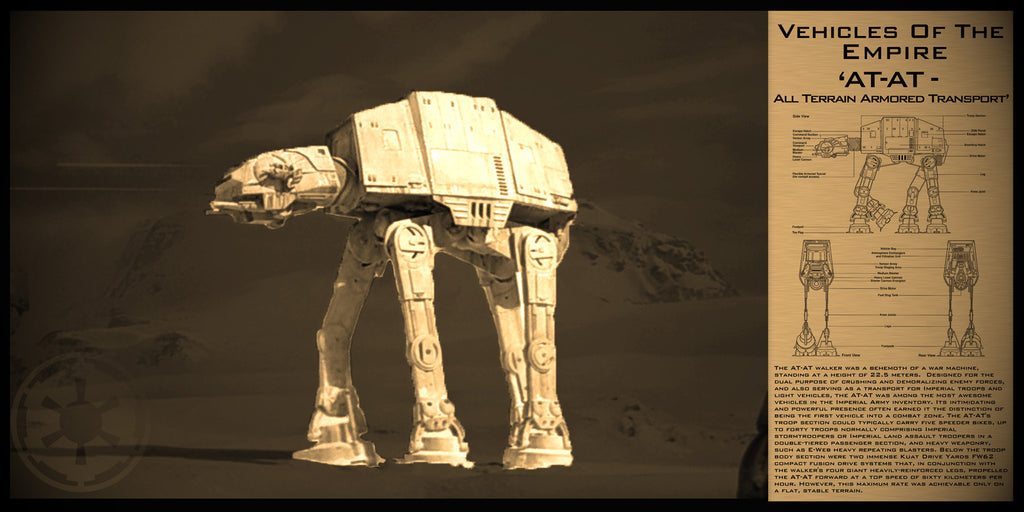 Star Wars AT-AT Limited Edition Geekograph Metal Art