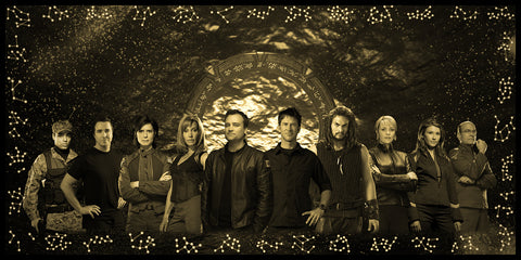 Stargate Atlantis Geekograph Limited Edition Metal Art