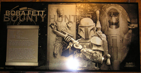 Star Wars Boba Fett Slave-1 Han Solo Limited Edition Geekograph Metal Art