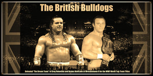 British Bulldogs WWE Smarkograph Limited Edition Metal Art