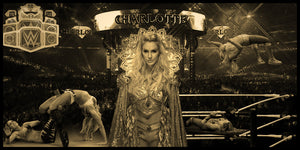 Charlotte Flair Smarkograph Limited Edition Metal Art