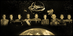 "Star Trek ""Deep Space Nine"" Limited Edition Geekograph Metal Art"