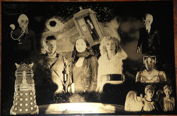 Doctor Who - Family Mini Limited Edition Geekograph Metal Art