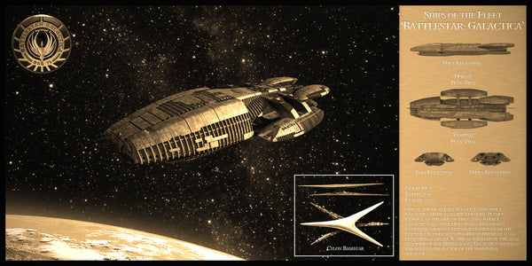 Battlestar Galactica Limited Edition Geekograph Metal Art