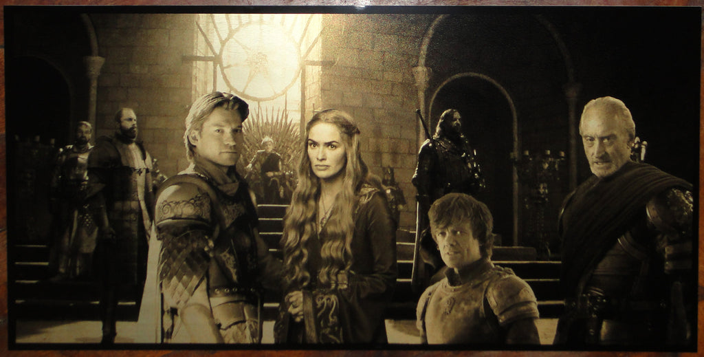 Game of Thrones House Lannister Geekograph Limited Edition Metal Art